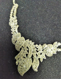 VINTAGE STERLING SILVER AND MARCASITE 2 PIECE NECKLACE AND EARINGS SET