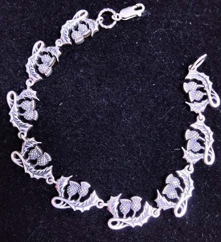 STERLING SILVER DETAILED ACORN BRACELET 8 INCHES LONG WEIGHS 21.9 GRAMS