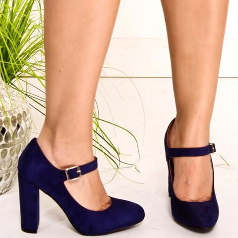 vintagepalace.us, pinUP GiRL ShOES, NaVY SueDE, hIgh Blocked Heeled, Rounded Toes, PlayFUL AND aLLURING,