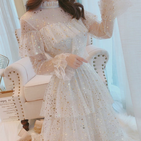 vintagepalace.us, MesH AND sEQuin, a lINEd dRESS, wEStern, Ruffled, lAYErs, Tierd Multi, PriNCESS, lOVELY, wHITE,