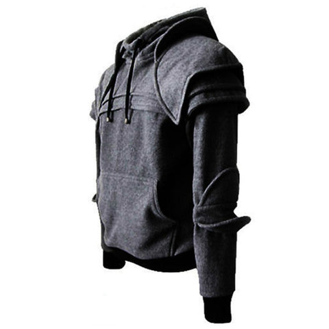 vintagePalace.us, MaLE aRmor SWEAter, Hooded SweaTSHIRT, Charcoal grEy, kNIght ENglish, AwesoMe and UNiQue, Men'S ClothES,