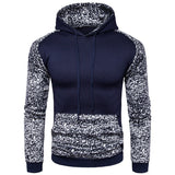 Men's long-sleeved hoodie 2019 new men fashion casual high-end leopard stitching hooded sweater European size jogging sweatshirt