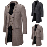 vintagepalace.us, Khaki or DarK GreY, WooLEN MeNS eLEGANT, LonG Winter CoaT, CHIC, Suave, LuxurioUS, Wool/Blend, mENs cOAts,