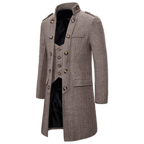 vintagepalace.US, Khaki , BeiGe, WoOLEN MeNS eLEGaNT, LOnG Winter CoaT, CHIC, SuaVe, LuxUrioUS, Wool/BleNd, mENs cOats,