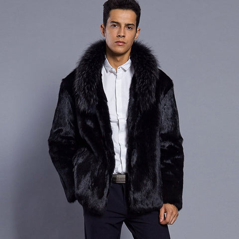 Vintagepalace.us, lONg fAux Fur CoaT, mEns Outer WeaR, StyLish, ModERN, PROTECTIVE OF ANIMALS, Sexy, Chic,