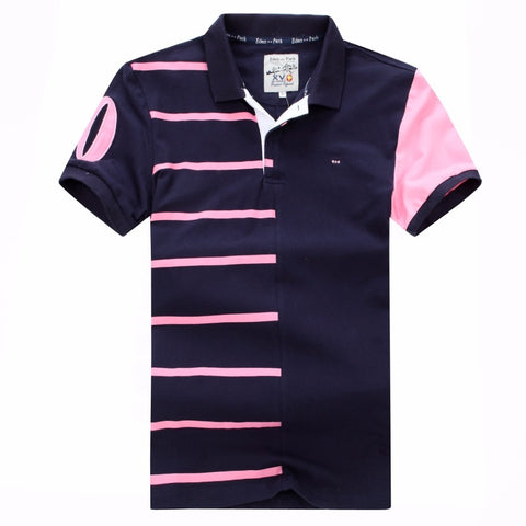 vintagepalae.us, pOLo, PrePPY, ModERN sTyled, BluE And PiNK, sTRipeD, ShoRt Sleeves, ShiRTS, CottON, bReathable, ComfORTABLE, nICe,