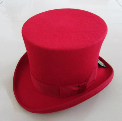 vintagepalace.US, Red Vibrant ToP hAt, Jules Verne head pIECE, flAMNING rED tOPPEr,