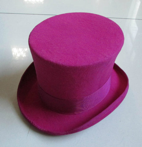 VINtagePALACE.US, HOT Pink ToP hAt, 1005 wOOL TOPhat, eNGLish ToppERS,