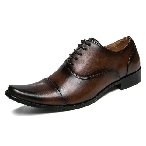 vintagepalace.us, poinTed toEd footWear, Men'S LacE-Up OXFords,  WEdding Attire, dress modern shoe, brown,