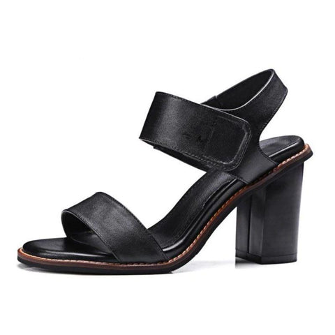 vintagepalace.us, bLAck Genuine leATHER Platformed Sandals, Classic and TimeLESS, gOES wITH eVERYTHING, Black,