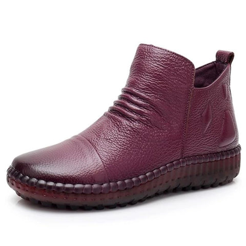 vintagepalace.us, BURgundY PlatfORMED flATS, aNKle Boots, ladiES fOOtwEAR, cASUal Elegance, fASHIOnable bUT cOMFORTABLE,