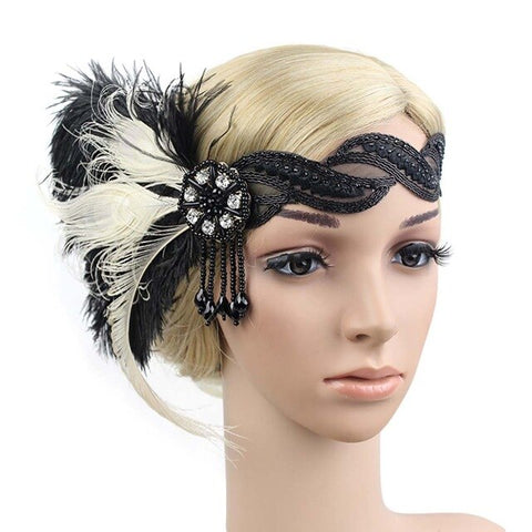 vintagepalace.US, flaPPeR, TwenTIES, RoarING 20's HeadPiEcE, hEaDBAND, FEAthErs, bedaZzled, faNcy, coSplAY,