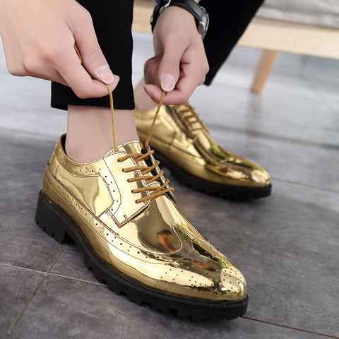 vintagepalace.us, Gold Lame LeTAHER ShoES, BreATHABLE FOOTWear, foRMAL PIzazz, snazzY FEET, CElebrity ready, meTALLIC Gold cOLORED,