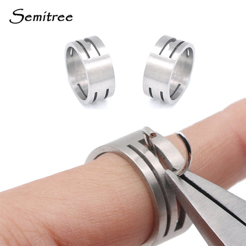 Semitree Stainless Steel Jump Ring Opening Closing Finger Jewelry Tools Round Circle Bead Plier for DIY Jewelry Making Tool