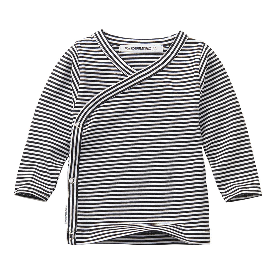MINGO mingokids Baby Wrap Top Stripes