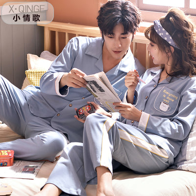 Men and Women's Long Sleeve Cotton Pajamas Set #2556,2456