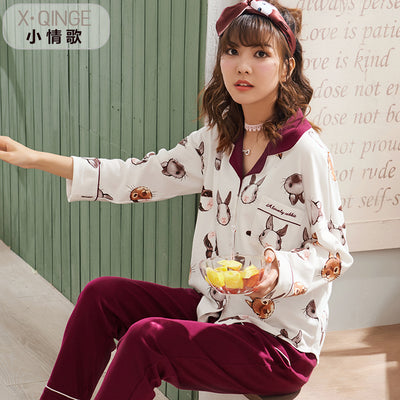 Long Sleeve Cotton Pajamas Set #2024