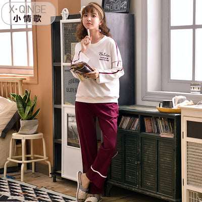 Long Sleeve Cotton Pajamas Set #2067