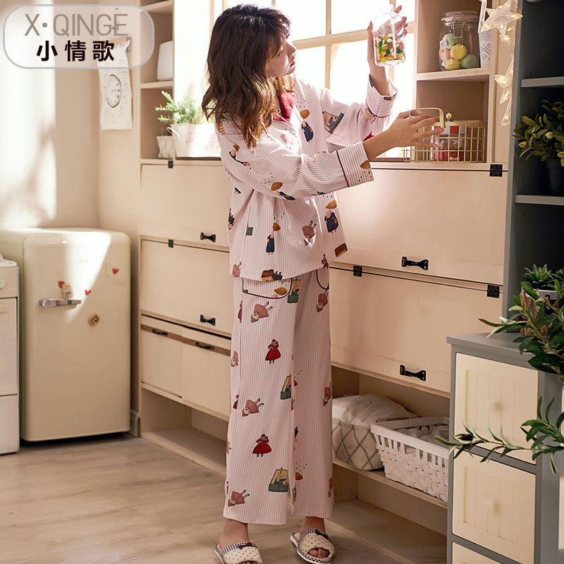 Long Sleeve Cotton Pajamas Set #2026