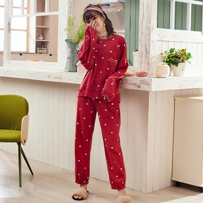 Long Sleeve Cotton Pajamas Set #2015