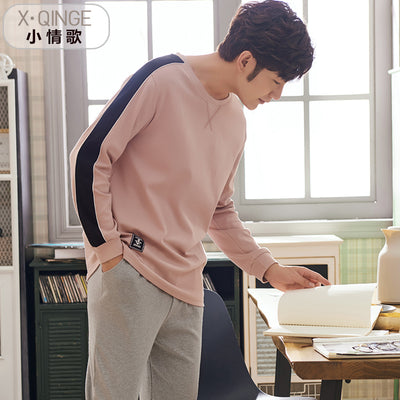 Men's Long Sleeve Cotton Pajamas Set #2120