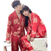 Men and Women's Long Sleeve Satin Sleepwear Pajamas Set #1711,1712