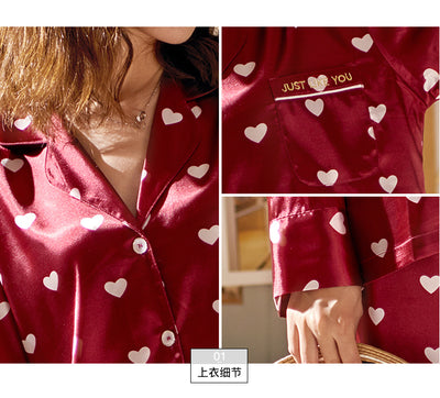 Men and Women's Long Sleeve Satin Sleepwear Pajamas Set #2404,2504