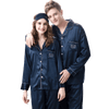 Men and Women's Long Sleeve Satin Sleepwear Pajamas Set #802,605