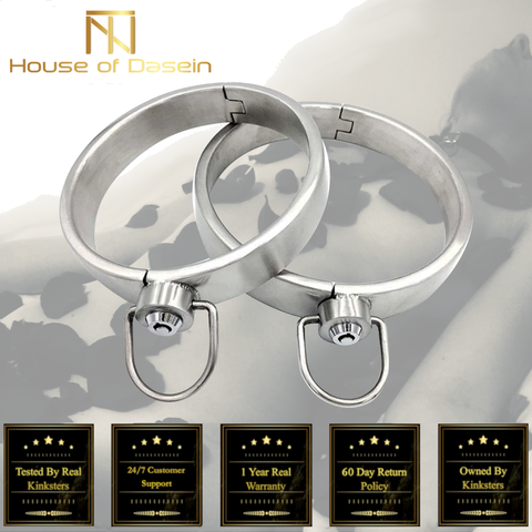Solid Stainless Steel Lockable Slave Collar BDSM Bondage Restraints c101-Collars-BDSM Shop - House of Dasein Kink Toys and Apparel