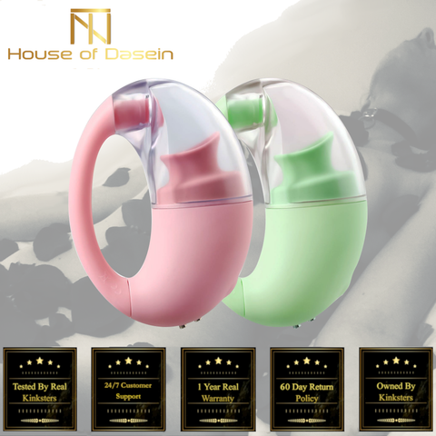 Clitoral Suction Vibrator Silicone Nipple Sucking Massager Pink Green V103-Clitoral Vibrators-BDSM Shop - House of Dasein Kink Toys and Apparel