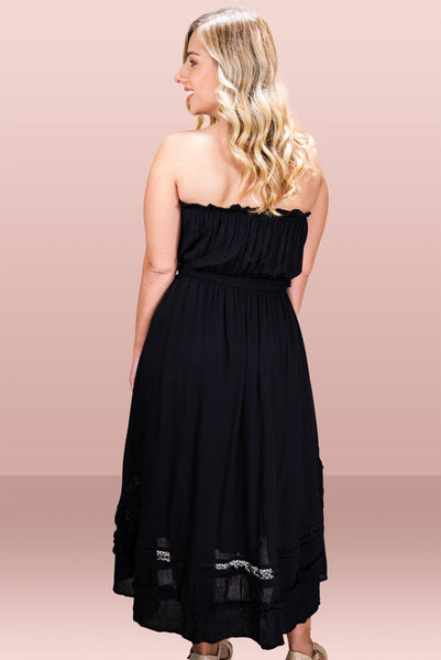 Bonnie Black Strapless Dress