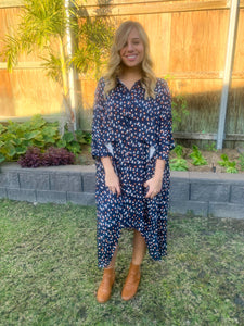 Cascade Shirt Dress