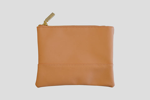 Small Tan Clutch