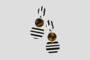Resin Stripe Earrings
