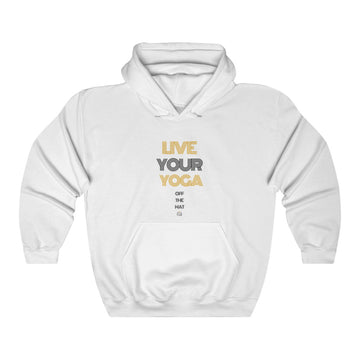 Live Your Yoga Heavy Blend™ Hoodie (black and gold)