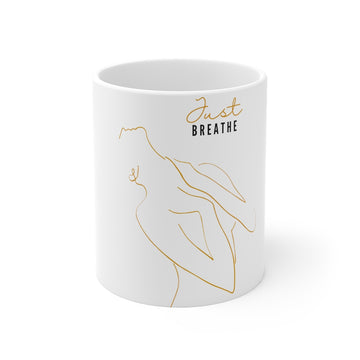 Just Breathe Line Art 11 oz Mug