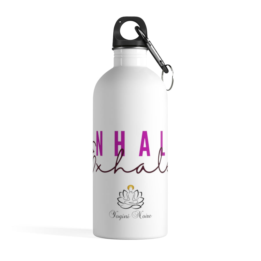 Inhale Exhale Pink Stainless Steel Water Bottle