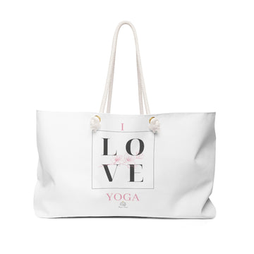 I Love Yoga Weekender Bag