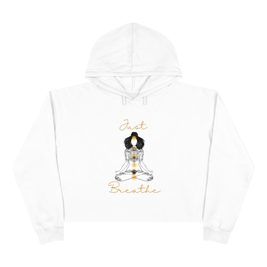 Just Breathe Crop Hoodie