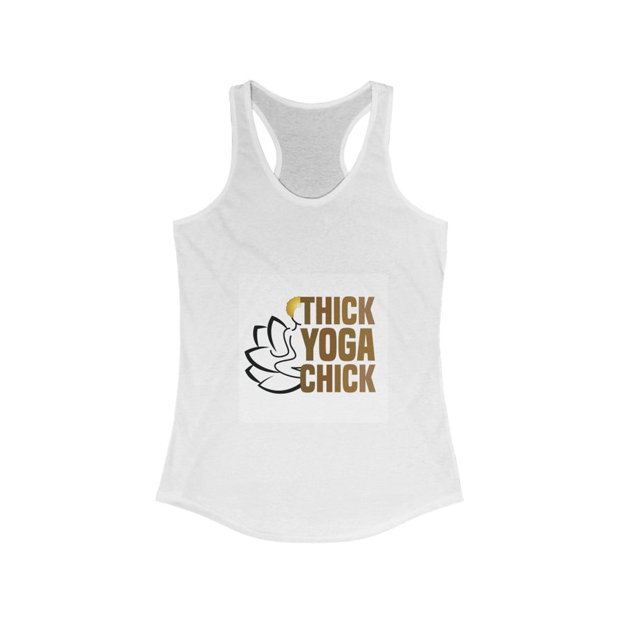 Thick Yoga Chick Racerback Tank Top
