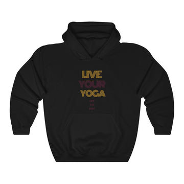 Live Your Yoga Heavy Blend™ Hoodie (Purple and Gold)