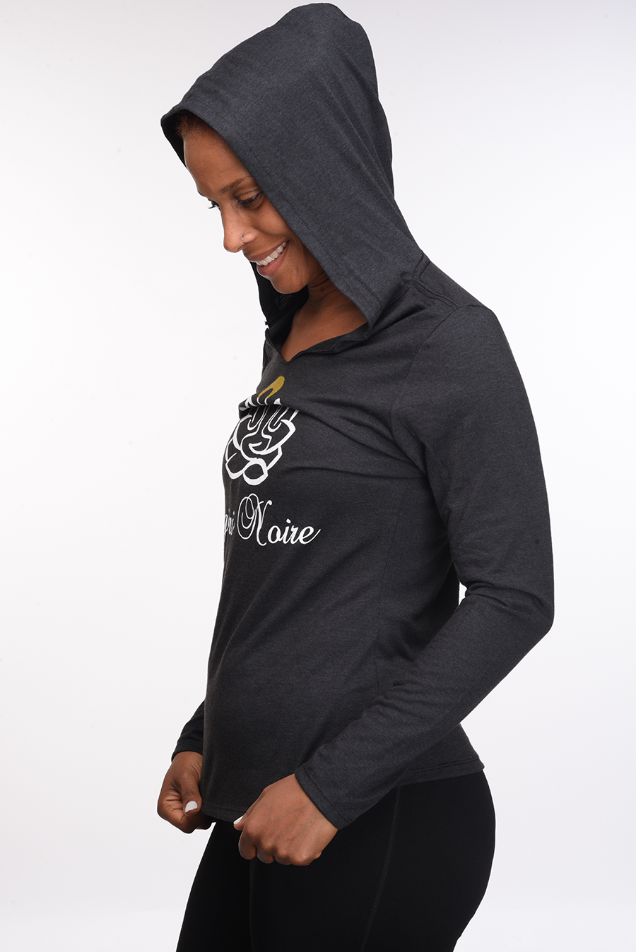 Logo Style Light-Weight Hoodie (black frost)