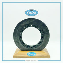 Load image into Gallery viewer, Formula One Carbon Brake Disc With a Wooden Support (Teak). Nr.5 .Years 2000-2005