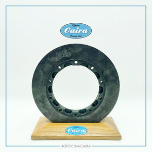 Formula One Carbon Brake Disc With a Wooden Support (Teak). Nr.5 .Years 2000-2005