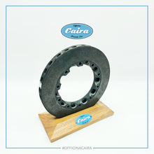 Load image into Gallery viewer, Formula One Carbon Brake Disc With a Wooden Support (Teak). Nr.3 .Years 2000-2005