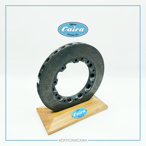 Formula One Carbon Brake Disc With a Wooden Support (Teak). Nr.3 .Years 2000-2005