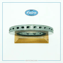 Load image into Gallery viewer, Formula One Carbon Brake Disc With a Wooden Support (Teak). Nr.6 .Years 2000-2005