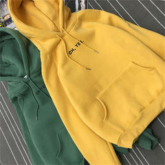 Oh yes Hoodies Sweatshirts 2020 Women Casual Kawaii Harajuku Fashion Punk for Girls Clothing European Tops Korean