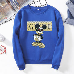 2020 Female mickey print New Fashion  Long Sleeves Harajuku Pullovers Tops  Women's Hooded Sweatshirt hoodie s6360/2270