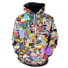 Brand Tracksuis Harajuku Fashion Women Long Sleeve Hoodies 2019 Moleton Feminino Hoodies Cute Panda 3D Sweatshirt Female/Male